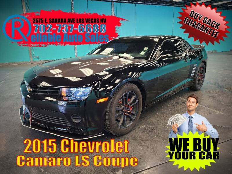 2015 Chevrolet Camaro for sale at Reliable Auto Sales in Las Vegas NV