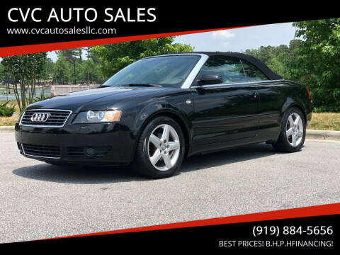 2004 Audi A4 for sale at CVC AUTO SALES in Durham NC