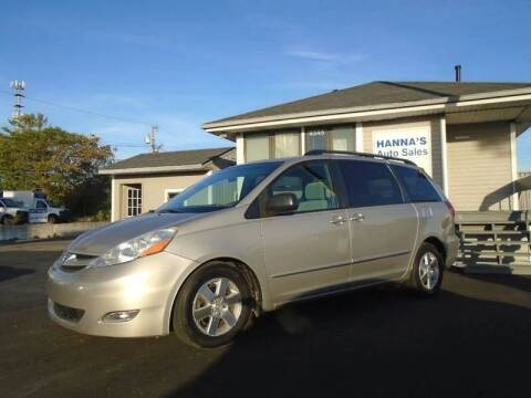 2007 Toyota Sienna for sale at Hanna's Auto Sales in Indianapolis IN