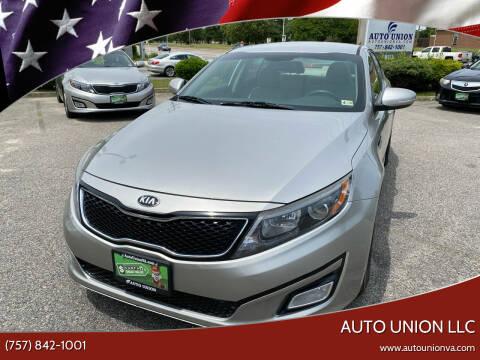 2014 Kia Optima for sale at Auto Union LLC in Virginia Beach VA