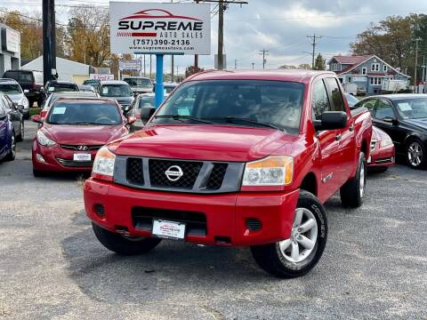 2008 Nissan Titan for sale at Supreme Auto Sales in Chesapeake VA