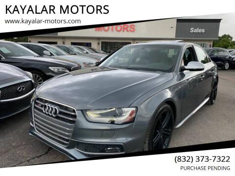 2014 Audi S4 for sale at KAYALAR MOTORS in Houston TX