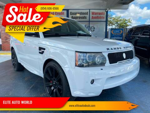 2012 Land Rover Range Rover Sport for sale at ELITE AUTO WORLD in Fort Lauderdale FL