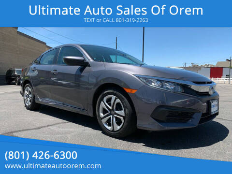 2018 Honda Civic for sale at Ultimate Auto Sales Of Orem in Orem UT