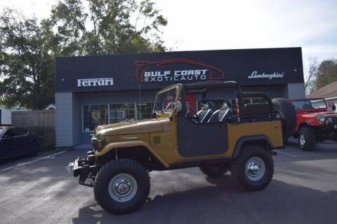 1976 Toyota Land Cruiser for sale at Gulf Coast Exotic Auto in Biloxi MS