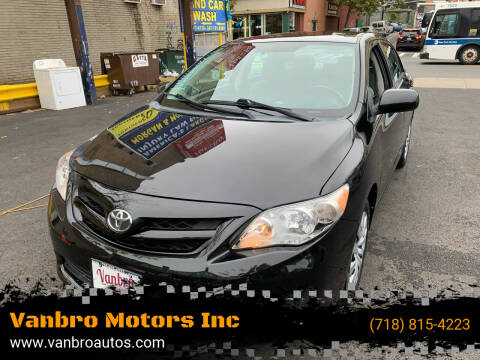 2013 Toyota Corolla for sale at Vanbro Motors Inc in Staten Island NY