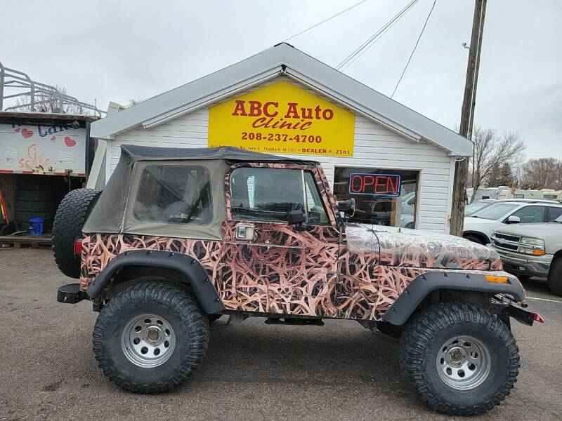 1989 Jeep Wrangler for sale at ABC AUTO CLINIC - Chubbuck in Chubbuck ID