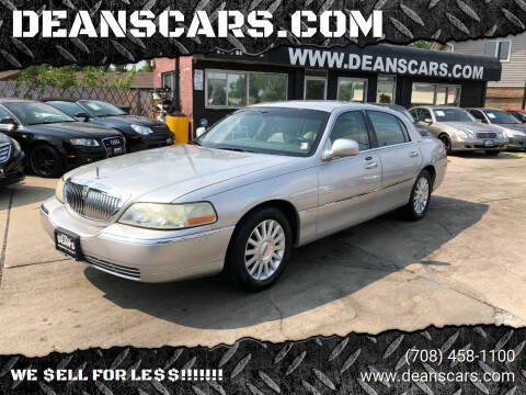2004 Lincoln Town Car for sale at DEANSCARS.COM in Bridgeview IL