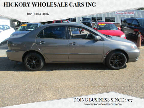 2006 Toyota Corolla for sale at Hickory Wholesale Cars Inc in Newton NC