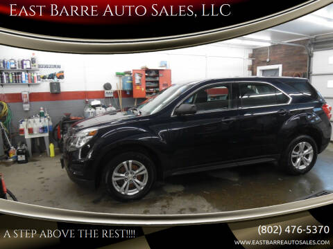 2016 Chevrolet Equinox for sale at East Barre Auto Sales, LLC in East Barre VT