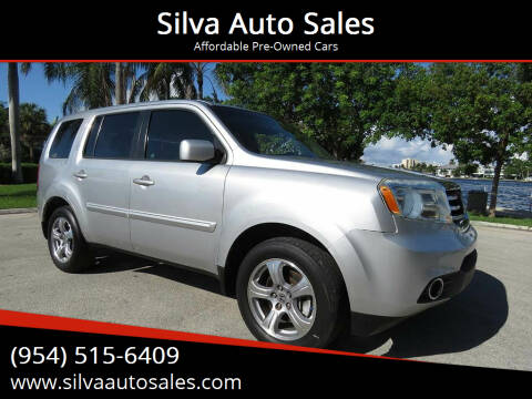 2012 Honda Pilot for sale at Silva Auto Sales in Pompano Beach FL