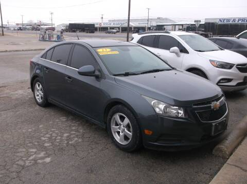 2013 Chevrolet Cruze for sale at AUTO TOPIC in Gainesville TX