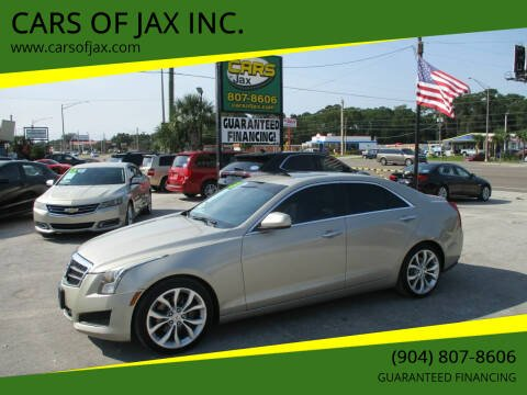 2013 Cadillac ATS for sale at CARS OF JAX INC. in Jacksonville FL
