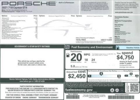 2021 Porsche 718 Cayman for sale at RAC Performance in Carrollton TX