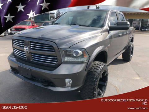 2014 RAM Ram Pickup 1500 for sale at Outdoor Recreation World Inc. in Panama City FL