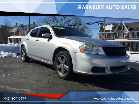 2011 Dodge Avenger for sale at Barnsley Auto Sales in Oxford PA