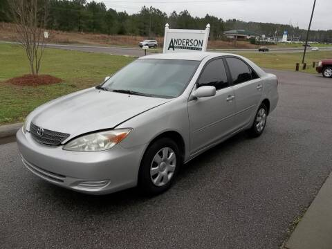 2002 Toyota Camry for sale at Anderson Wholesale Auto in Warrenville SC