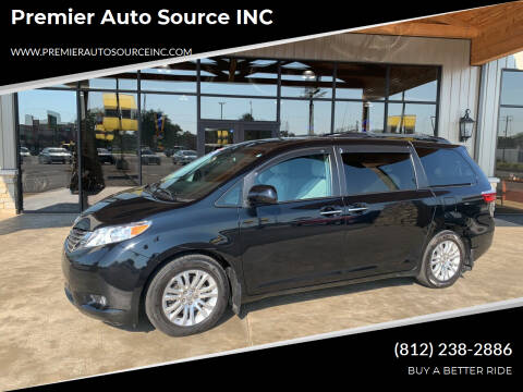 2016 Toyota Sienna for sale at Premier Auto Source INC in Terre Haute IN
