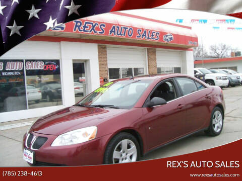 2008 Pontiac G6 for sale at Rex's Auto Sales in Junction City KS
