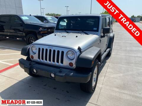 2012 Jeep Wrangler Unlimited for sale at Meador Dodge Chrysler Jeep RAM in Fort Worth TX