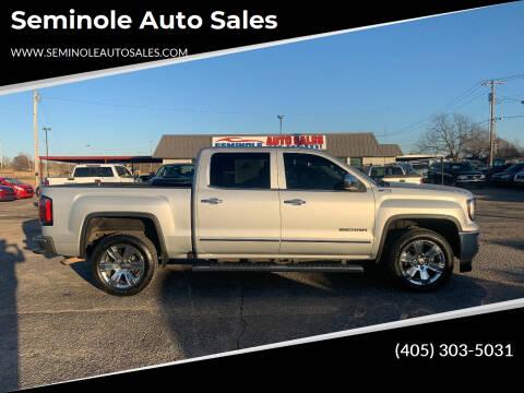 2016 GMC Sierra 1500 for sale at Seminole Auto Sales in Seminole OK