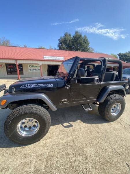 2004 Jeep Wrangler for sale at PITTMAN MOTOR CO in Lindale TX