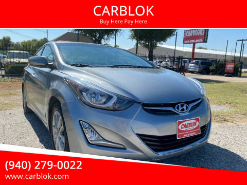 2016 Hyundai Elantra for sale at CARBLOK in Lewisville TX
