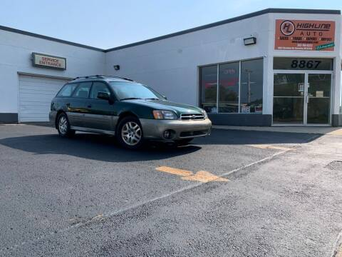 2000 Subaru Outback for sale at HIGHLINE AUTO LLC in Kenosha WI