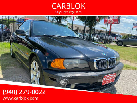 2001 BMW 3 Series for sale at CARBLOK in Lewisville TX