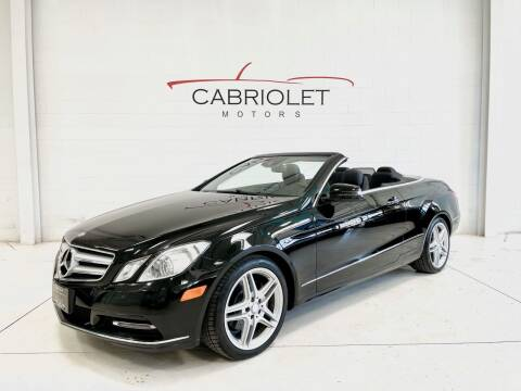 2013 Mercedes-Benz E-Class for sale at Cabriolet Motors in Morrisville NC