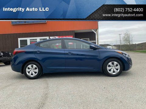 2016 Hyundai Elantra for sale at Integrity Auto LLC in Sheldon VT