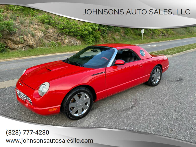 2002 Ford Thunderbird for sale at Johnsons Auto Sales, LLC in Marshall NC