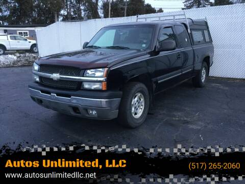 2003 Chevrolet Silverado 1500 for sale at Autos Unlimited, LLC in Adrian MI