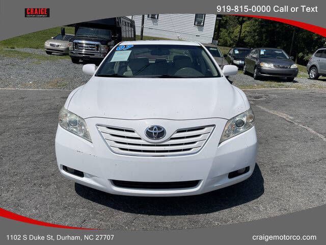 2007 Toyota Camry for sale at CRAIGE MOTOR CO in Durham NC