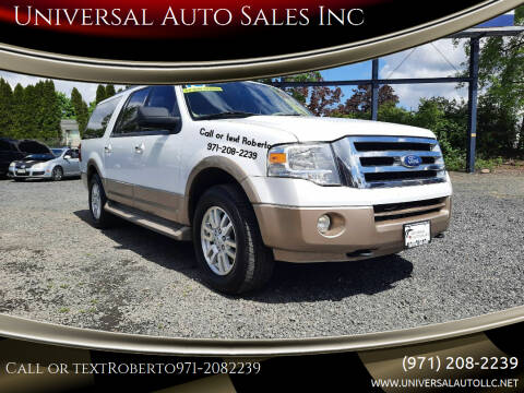 2012 Ford Expedition EL for sale at Universal Auto Sales Inc in Salem OR