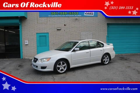 2009 Subaru Legacy for sale at Cars Of Rockville in Rockville MD