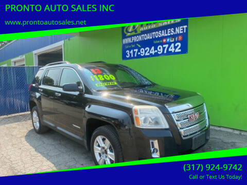 2013 GMC Terrain for sale at PRONTO AUTO SALES INC in Indianapolis IN
