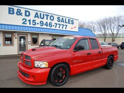 2005 Dodge Ram Pickup 1500 SRT-10 for sale at B & D Auto Sales Inc. in Fairless Hills PA