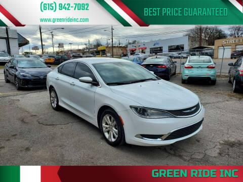 2015 Chrysler 200 for sale at Green Ride Inc in Nashville TN