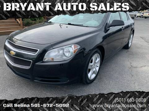 2010 Chevrolet Malibu for sale at BRYANT AUTO SALES in Bryant AR