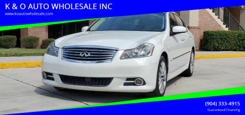 2008 Infiniti M35 for sale at K & O AUTO WHOLESALE INC in Jacksonville FL