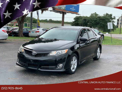 2012 Toyota Camry for sale at Central Union Auto Finance LLC in Austin TX