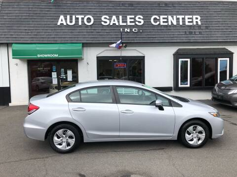 2014 Honda Civic for sale at Auto Sales Center Inc in Holyoke MA