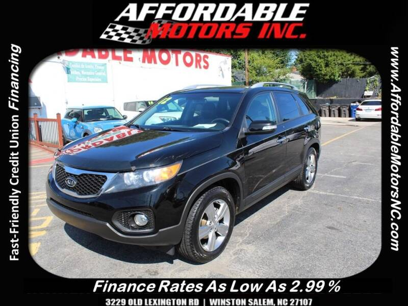 2012 Kia Sorento for sale at AFFORDABLE MOTORS INC in Winston Salem NC