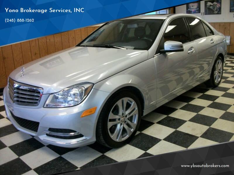 2014 Mercedes-Benz C-Class for sale at Yono Brokerage Services, INC in Farmington MI
