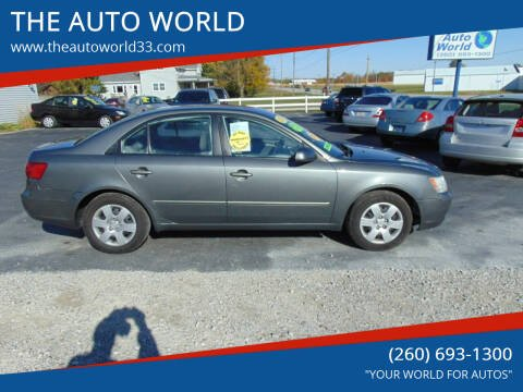 2010 Hyundai Sonata for sale at THE AUTO WORLD in Churubusco IN