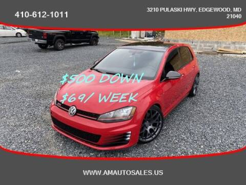 2016 Volkswagen Golf GTI for sale at A&M Auto Sales in Edgewood MD