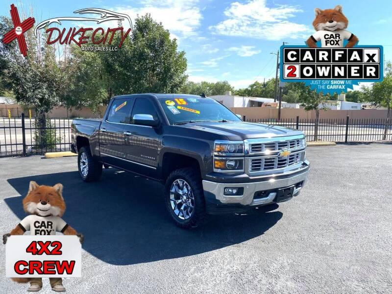2015 Chevrolet Silverado 1500 for sale at DUKE CITY AUTO SALES in Albuquerque NM