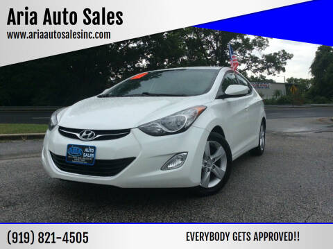 2013 Hyundai Elantra for sale at ARIA  AUTO  SALES in Raleigh NC