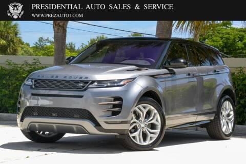 2020 Land Rover Range Rover Evoque for sale at Presidential Auto  Sales & Service in Delray Beach FL
